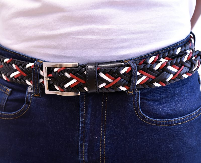 United Braided Leather Belt