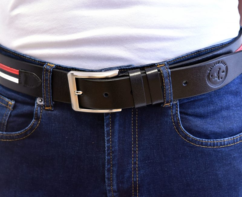 United Black Leather Belt