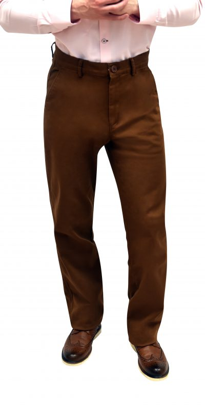 Regular Fit Brown Chinos