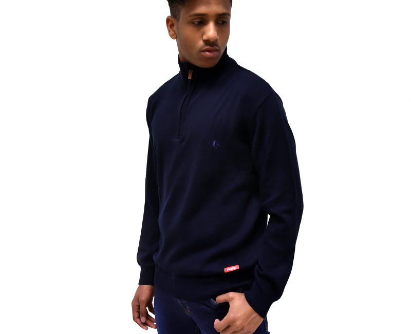 Best Navy Zip Neck Jumper