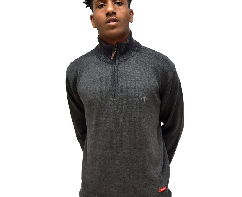 Best Grey Zip Neck Jumper