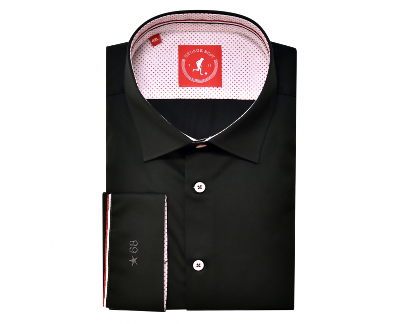 United Tailored Fit Cotton Black Shirt