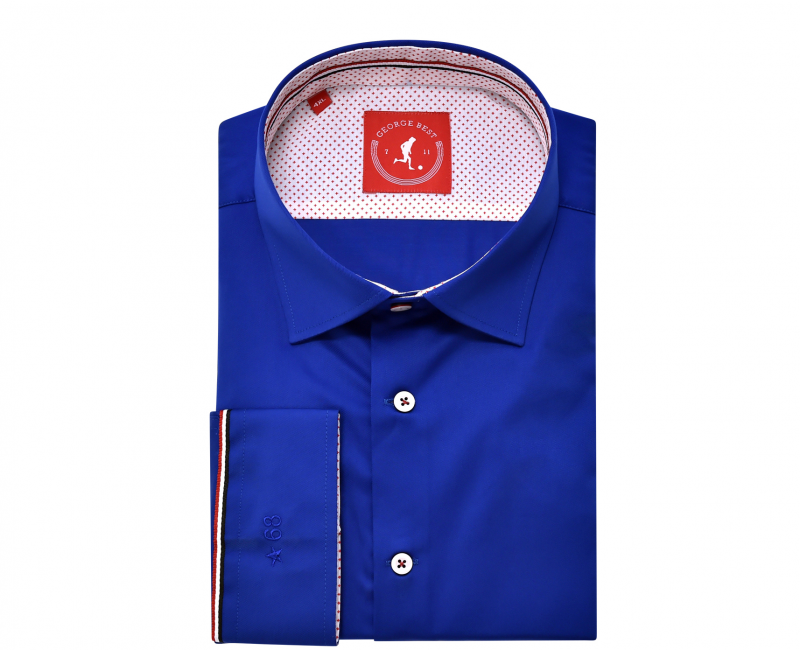 United Tailored Fit Cotton Royal Blue Shirt