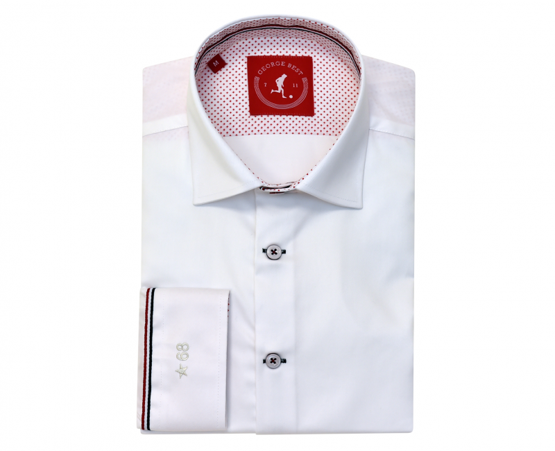 United Tailored Fit Cotton White Shirt