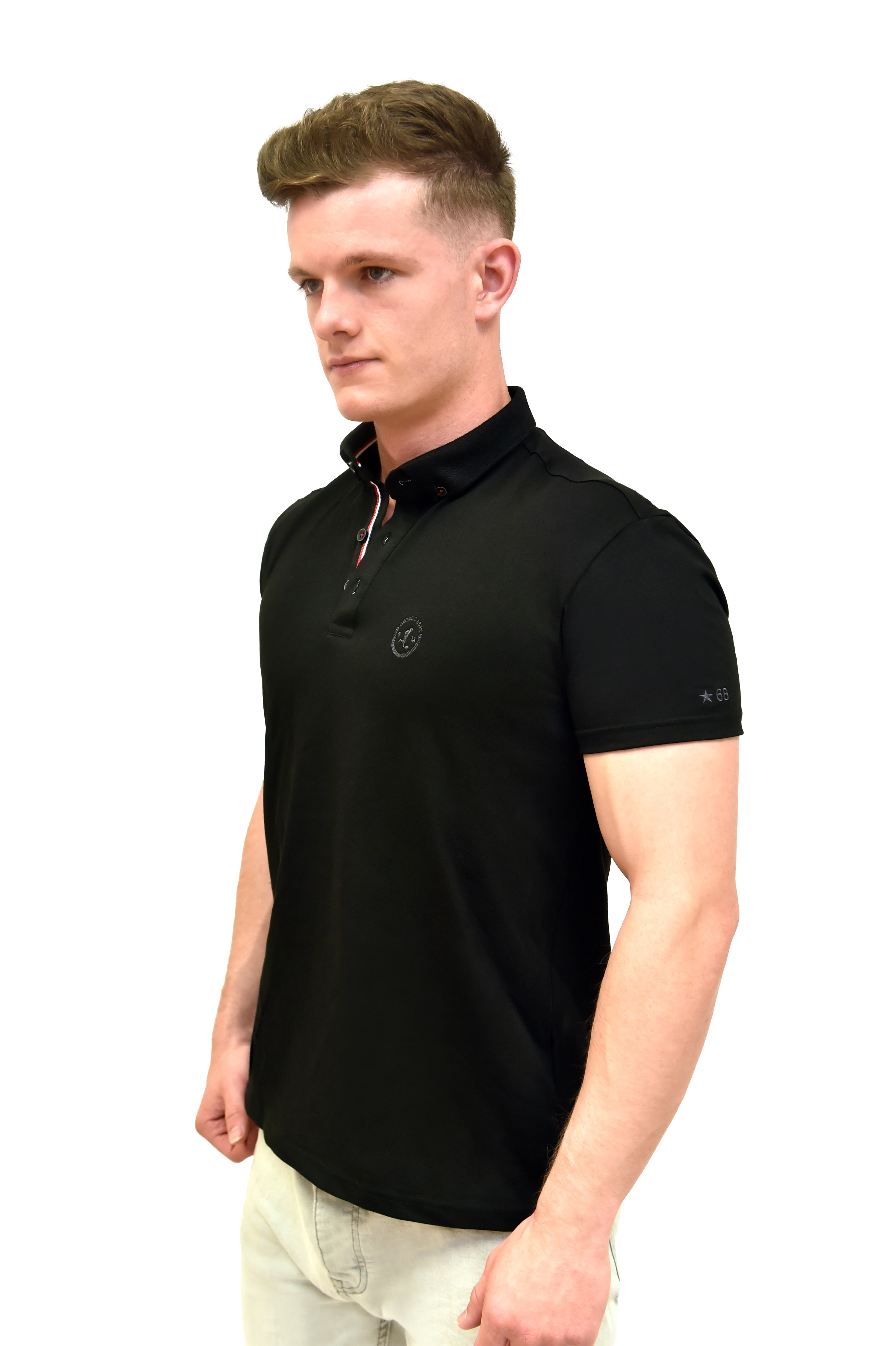9a16e315 Best White Polo Shirt With Button Down Collar - George Best Clothing