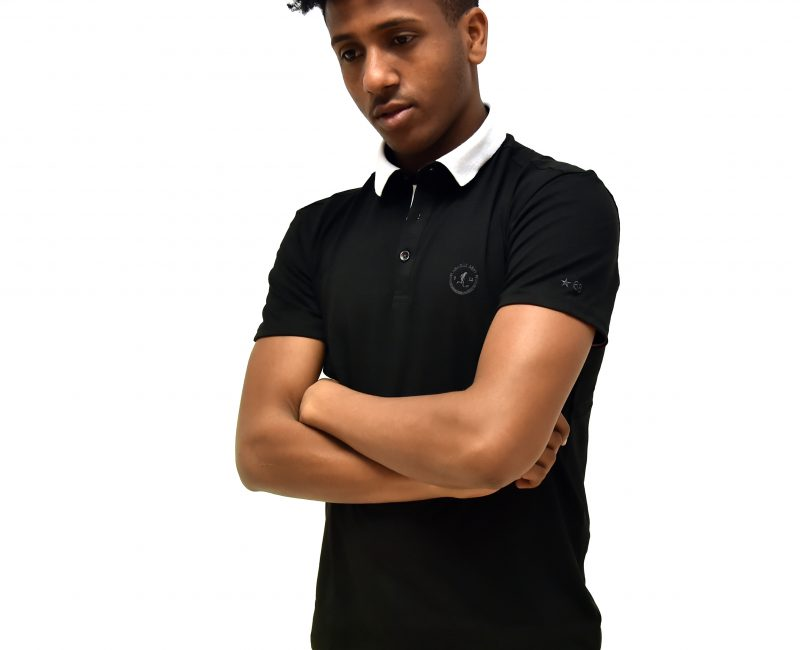 Best Black Polo Shirt With White Collar