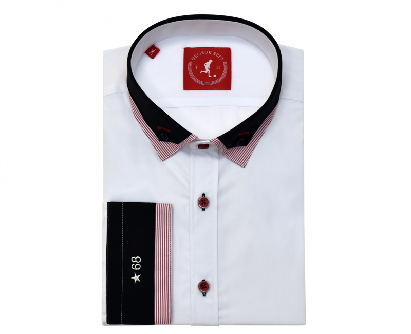 United Tailored Fit Shirt With Contrasting Double Collar