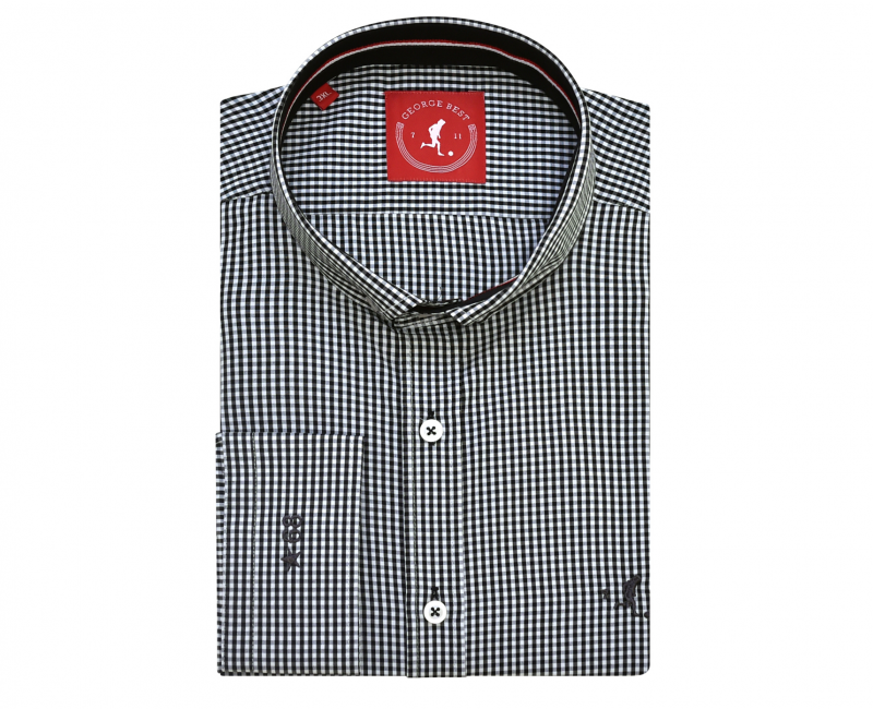 Best Tailored Fit Black Gingham Check Shirt With Button Down Collar