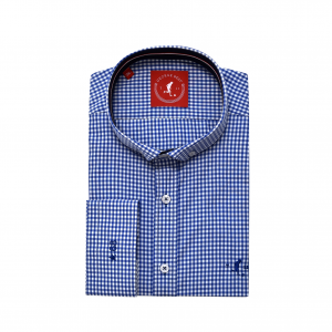 1bf50a23a698 Best Tailored Fit Royal Blue Gingham Check Shirt With Button Down Collar